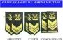 Gradi ricamati da Sergente, 2° Capo e 2° Capo Scelto