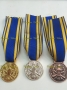 Medaglia al VALORE E.I. con nastro Oro-Argento-Bronzo