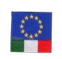 Ricamo bandiera CEE + ITALIA velcro