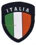 Scudetto Italia plastificato con velcro panno blu